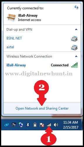 Connected WiFi Network Par Click Kare