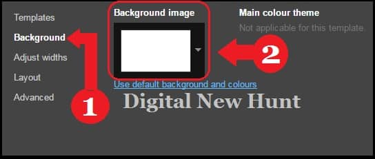 Use default background and colours