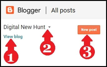 view blog and new post option