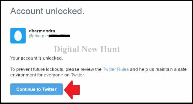 Your Twitter Account is Unlocked